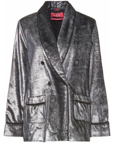 Бархатный пиджак двубортный с подкладкой F.r.s. For Restless Sleepers