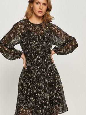 Расклешенное платье с длинными рукавами с вырезом Max&co