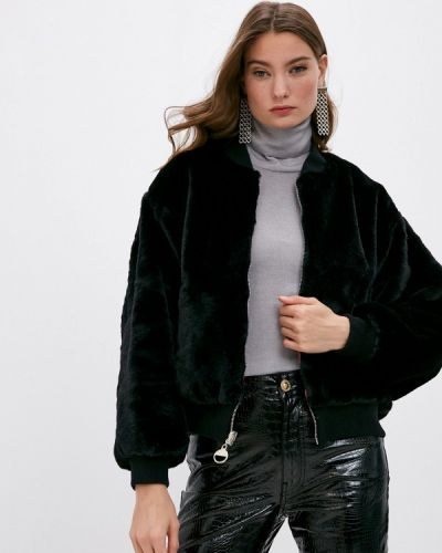 Черная шуба Chiara Ferragni Collection