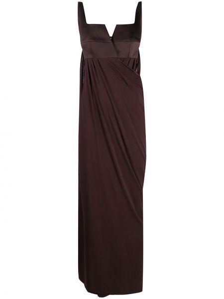 Платье макси длинное - коричневое Bevza