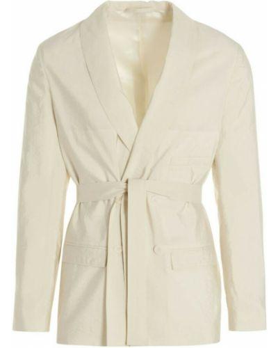 Biały płaszcz Lemaire