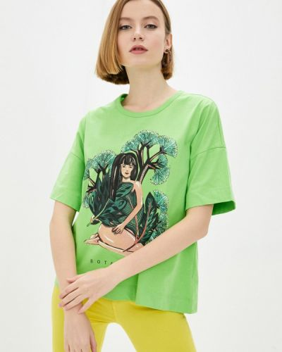 Зеленая футболка с короткими рукавами Colcci
