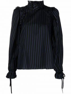 Блузка в полоску - черная Comme Des Garçons Noir Kei Ninomiya
