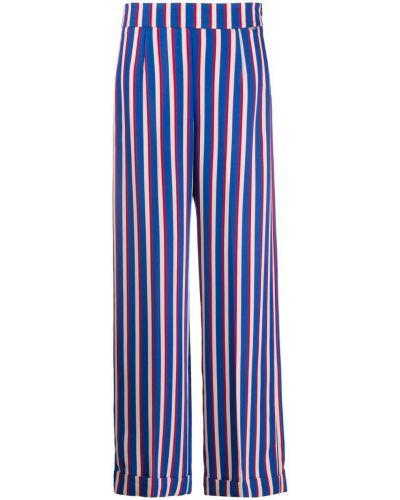 Свободные брюки с завышенной талией в полоску Liu Jo