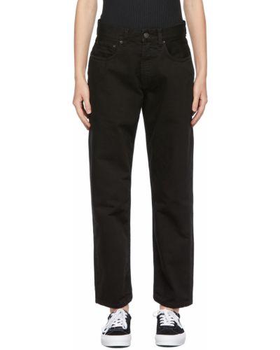 Черные джинсовые прямые джинсы 6397
