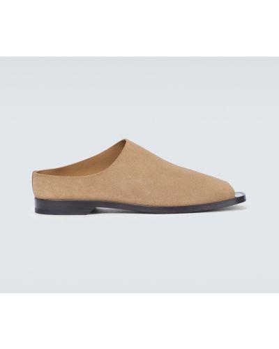 Открытые мюли на каблуке из натуральной кожи Lemaire