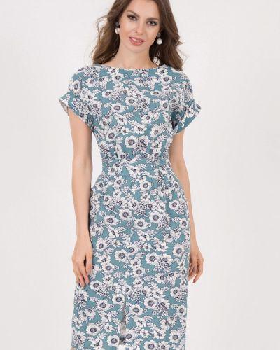 Платье миди бирюзовый оливковый Olivegrey