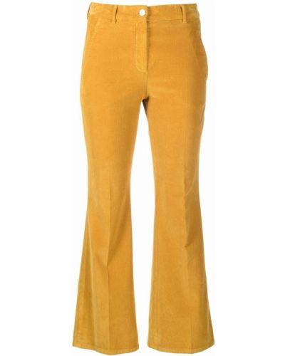 Укороченные брюки - желтые Incotex