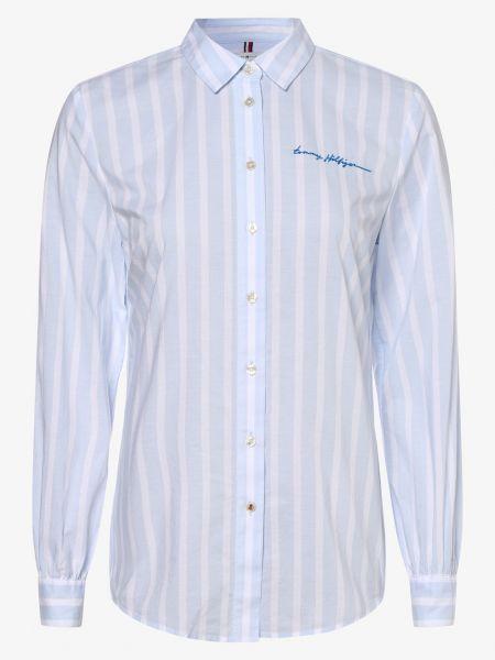Klasyczna niebieska bluzka z haftem Tommy Hilfiger