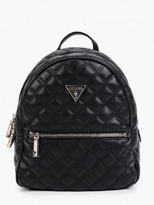 Черный кожаный рюкзак Guess