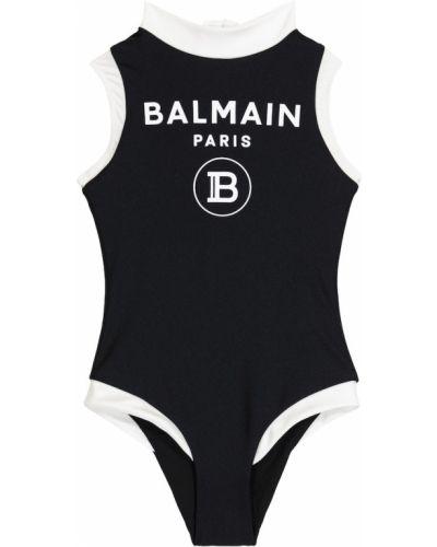 Czarny strój kąpielowy Balmain Kids