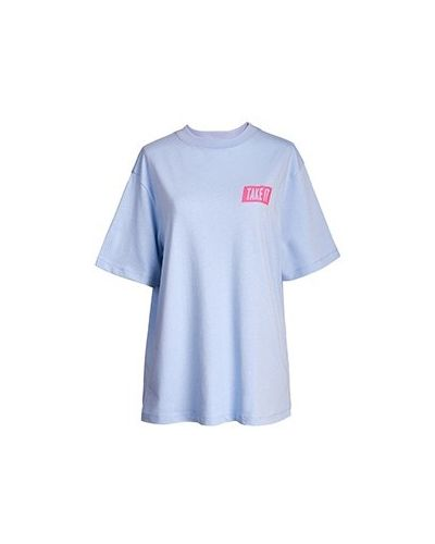 Хлопковая футболка - голубая Essentiel