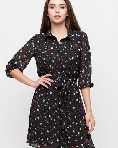 Платье рубашка - черное Cardo