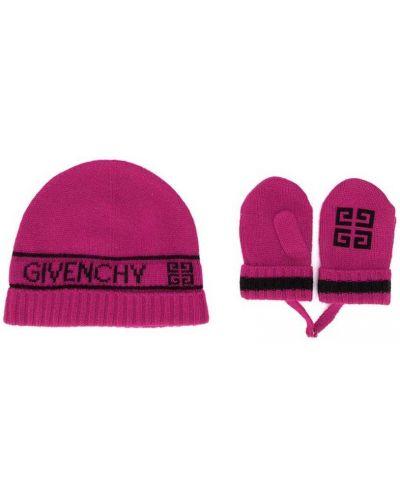 Czapka zimowa puchaty wełniany Givenchy Kids