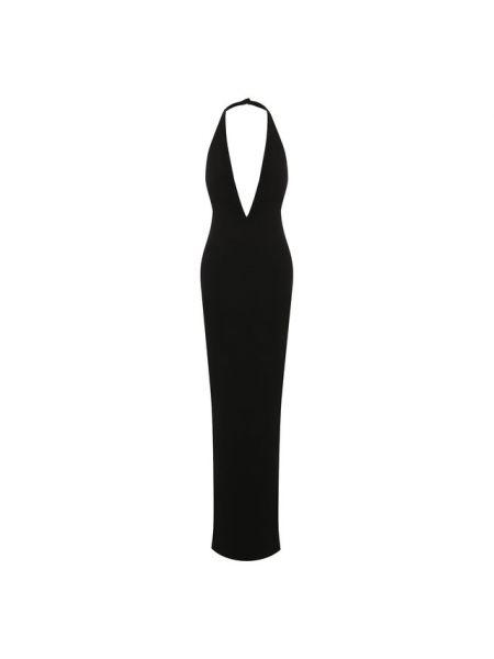 Трикотажное платье макси - черное Tom Ford
