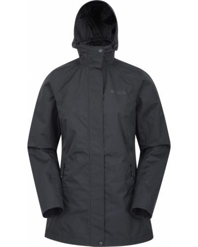 Czarna kurtka z kapturem Mountain Warehouse