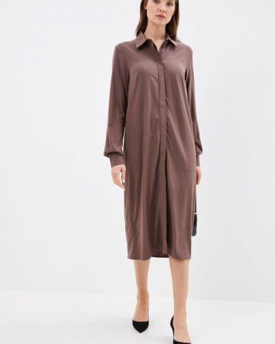 Коричневое платье-рубашка Trendyangel