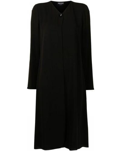 Черное платье макси длинное Giorgio Armani