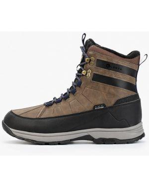 Кожаные ботинки осенние коричневый Luhta
