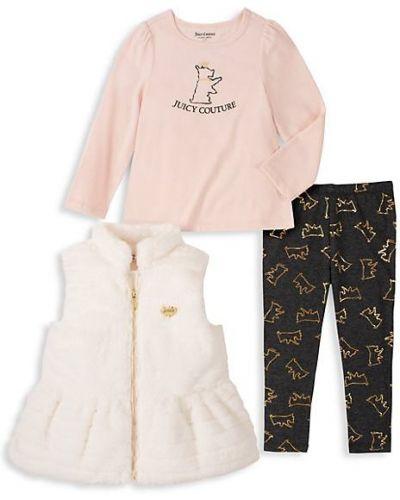 Różowa długa kamizelka bez rękawów bawełniana Juicy Couture