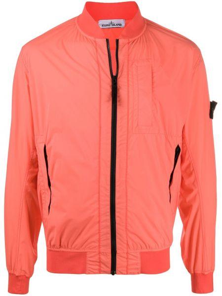 Оранжевая с рукавами куртка с манжетами Stone Island
