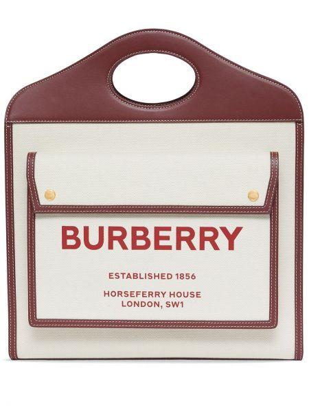Кожаная косметичка с карманами с гранатом Burberry