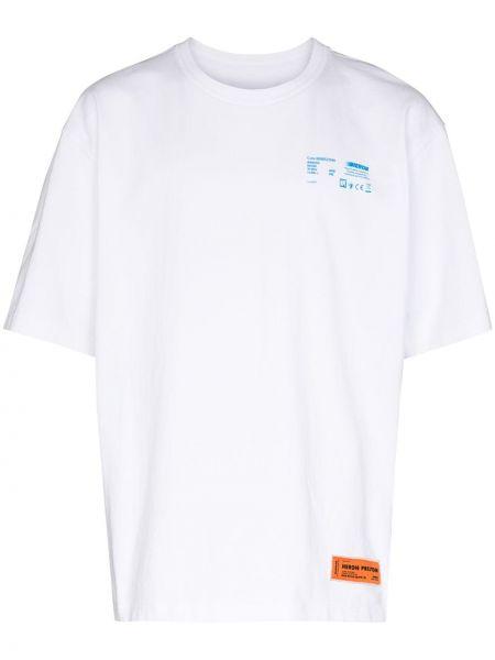 Niebieski bawełna koszula krótkie rękawy okrągły Heron Preston