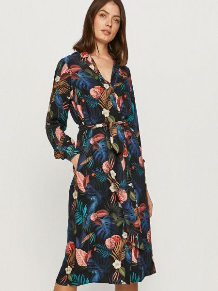 Платье с длинными рукавами с вырезом на пуговицах Femi Stories