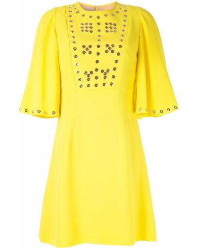 Желтое платье мини Andrew Gn