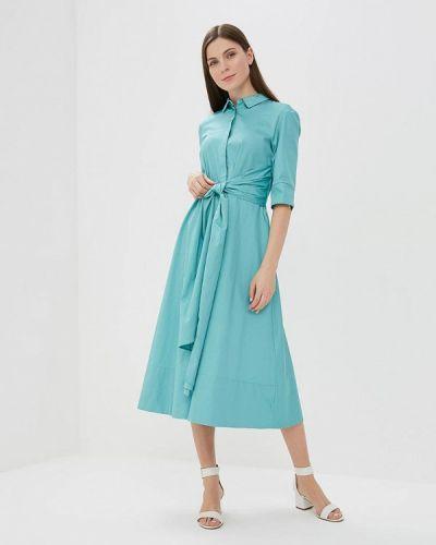 Бирюзовое платье с длинными рукавами Zarina