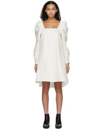 Белое платье макси с длинными рукавами с подкладкой Won Hundred
