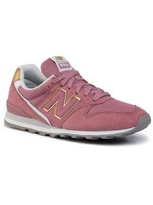 Półbuty zamszowe skórzane różowy New Balance