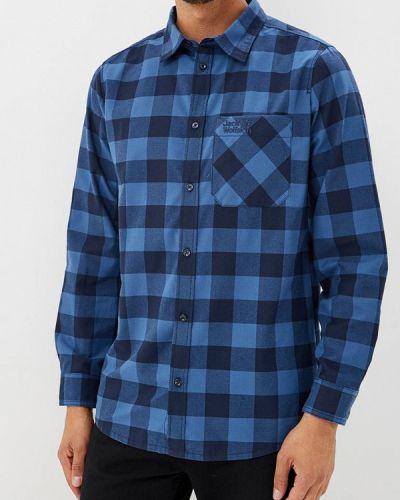 Синяя рубашка с длинным рукавом Jack Wolfskin