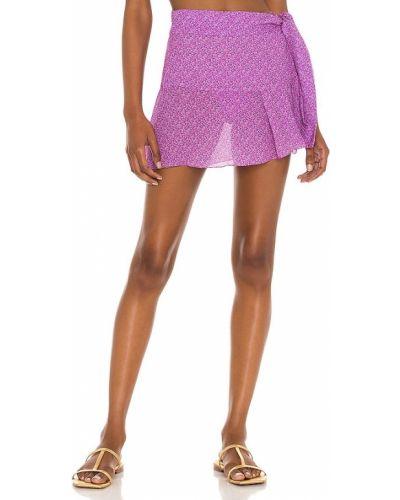 Фиолетовое текстильное парео классическое Vix Swimwear