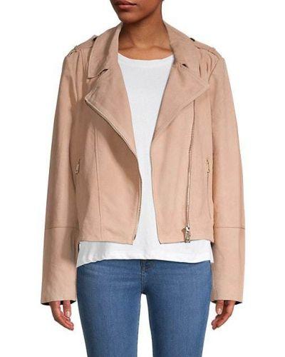 Замшевая розовая длинная куртка с подкладкой Ted Baker London
