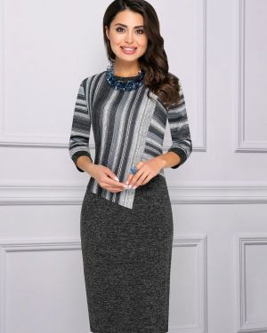 Повседневное платье серое платье-сарафан Charutti