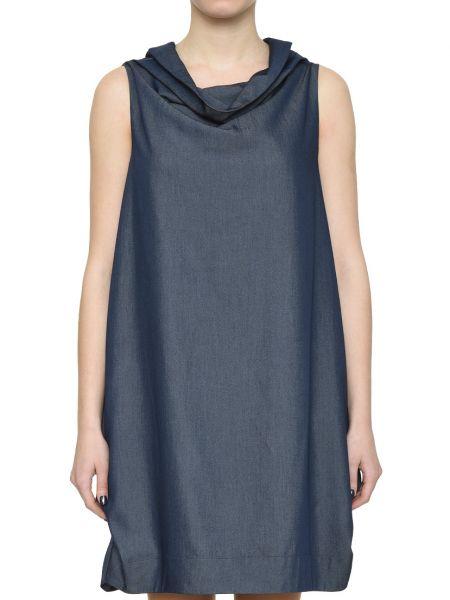 Синее платье из вискозы Rocco Ragni