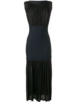 Нейлоновое приталенное платье миди винтажное без рукавов Issey Miyake Pre-owned