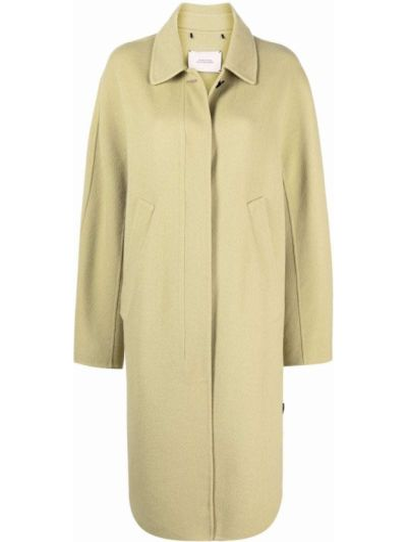 Зеленое однобортное пальто Dorothee Schumacher