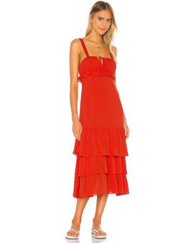 Оранжевое платье макси винтажное с подкладкой Privacy Please
