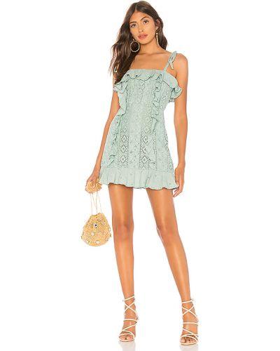 Bawełna z paskiem sukienka mini z zamkiem błyskawicznym na paskach Majorelle