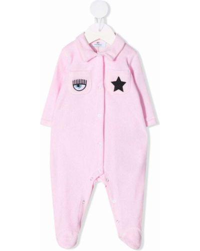 Klasyczny różowy garnitur bawełniany Chiara Ferragni Kids