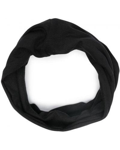 Черный снуд с вышивкой стрейч Raf Simons