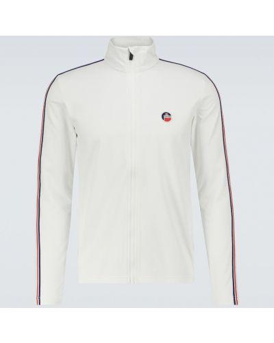 Biała bluza w paski Fusalp