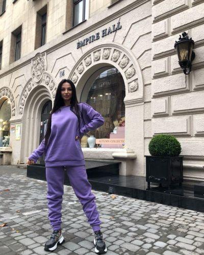 Фиолетовый флисовый костюм Rozetka