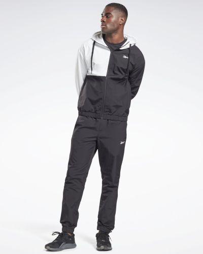 Нейлоновый спортивный костюм - черный Reebok