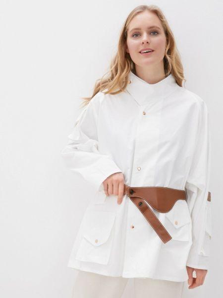 Белая облегченная куртка Hassfashion