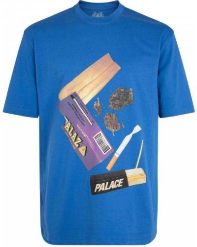 Лонгслив с принтом - синяя Palace