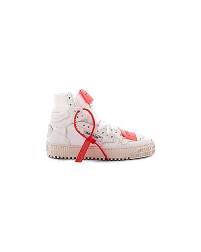 Белые кроссовки на шнуровке Off-white