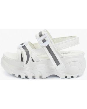 Белые текстильные сандалии Just Couture